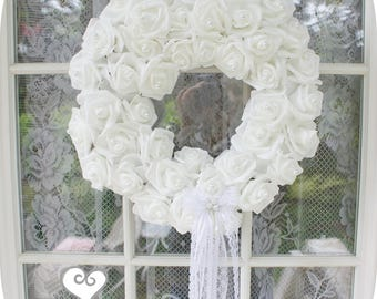Bridal Princess Heavens Kiss Romantic Roses Pearls Lace Angel Bridal Roses Tea Party Wreath Shabby Chic Marie Antoinette wedding