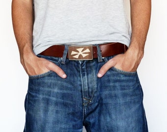 Wood Belt Buckle, Cool Belt Buckles for men and women, Father's Day