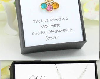 Mothers Day From Daughter, Mothers Day Birthstone, Mothers Necklace, Mothers Jewelry, Mothers Day Gift, Wife Gift Grandma Gift Birthday