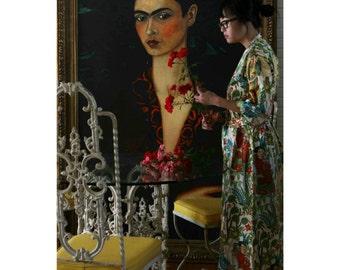 CUSTOM MID CALF Kimono Robe. Kimono. Kimono Robe. Mid Calf Bathrobe. Mid Calf Dressing Gown. Choose your Fabric. Small thru Plus Size.