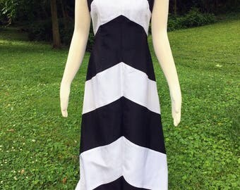 Vintage Jessica McClintock Prom Dress Formal Black and White Gown