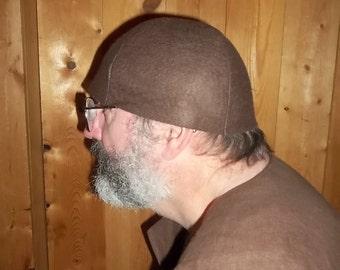 Medieval brown wool cap