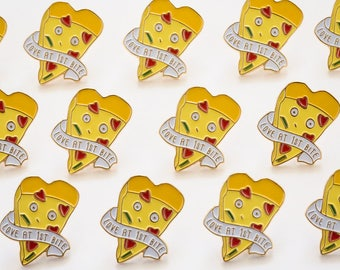 NEW** Love at First Bite Pizza Slice Enamel / Lapel Pin