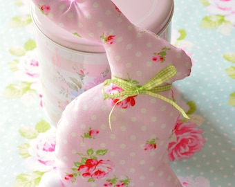 Shabby Chic bunny home decor fabric bunny easter decoration pink rose
