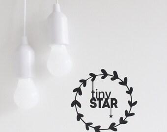 wall decal, tiny star, nursery wall decals, nursery stickers, tiny star sticker, minimalist nursery decal, monochrome nursery