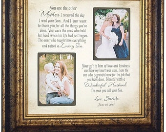 Mother In Law Gift, Mother of the Groom Gift, Mother of Groom Photo Frame, In Law Quote, mother groom quote, parents of the groom,  16x16