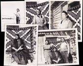 Navajo Family- 1950s Vintage Photographs- SET of 5- Navajo Blanket- Native American- Two Feather Smudge Fan- Found Photos- Paper Ephemera