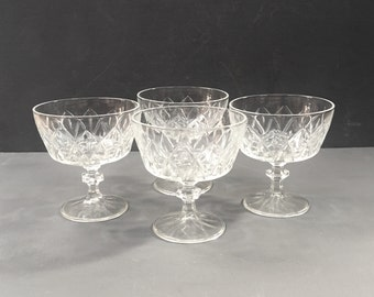 Set of Vintage Champagne Coupes or Sundae Dishes