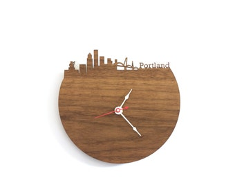 "Portland Clock - 7"" Walnut SAMPLE"