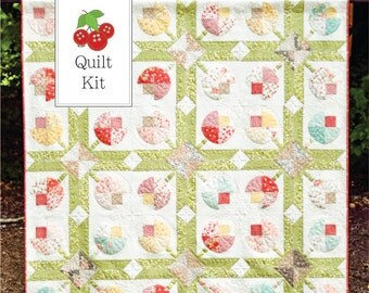 Quilt Kit - Strawberry Fields Revisited and Flower Patch Quilt Kit - Flower Patch Quilt Pattern - SFFPQK