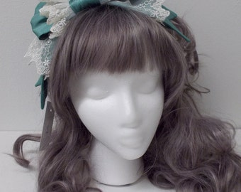 Classic Lolita Hairbow Sidebow Pink Black Ivory and More Choose Your Color
