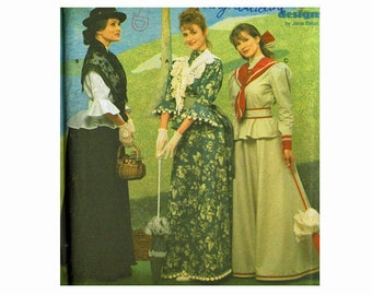 Simplicity 8375 Costumes Bust 40 42 44 Sizes 18 20 22 Turn of the Century Victorian Ellis Island Coastal Fashion Uncut OOP Sewing Pattern