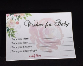 Baby Wishes for Baby, Parental Advice Cards, Custom Baby Wishes, child adoption party, Unique Baby Shower Ideas, Baby Shower Activity Game