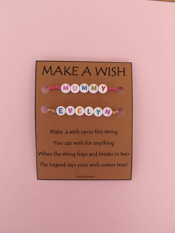 For MOM and ME Mothers Day New Mum Parent Double Wish String Bracelet Band Soul Mates Make a Wish Together Choose Color Cord
