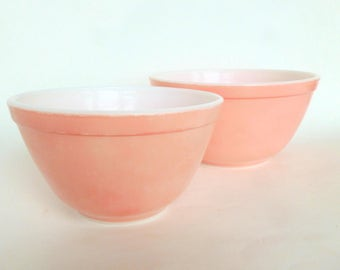 Flamingo Pink Pyrex Round Nesting Mixing Bowl 402 ONLY
