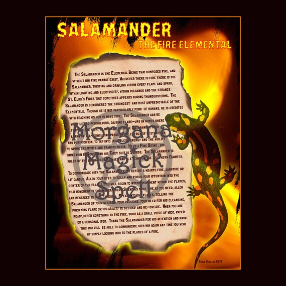 Salamander the Fire Elemental Spirit