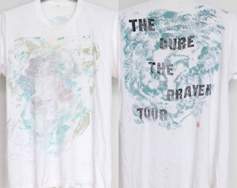 The Cure Prayer Tour T Shirt Mens Extra Large XL XXL 2XL Unisex Womens Vintage 80s Concert Well Worn Trashed Soft Paper Thin Oversized