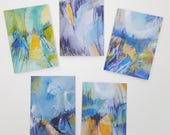 Fine art abstract painting greeting cards