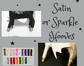 Sparkle or Satin Hooves for Your Stuffed Pegacorn ~ Add-On for Build-A-Pegacorn, The Roaming Peddlers, Accessory, Magical Touch
