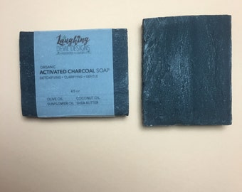 Activated Charcoal Soap // Organic Ingredients // Vegan & Palm Oil Free