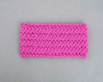 Womens Wool Headband, Ear Warmer, Pink Headband, Gift for Her, Winter Fashion