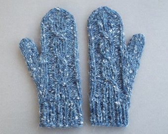 Womens Mittens, Wool Mittens, Winter Gloves, Womens Gloves, Gift for Her