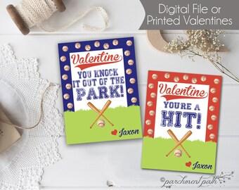 baseball valentines personalized valentine cards printable valentines sports valentines boy valentines