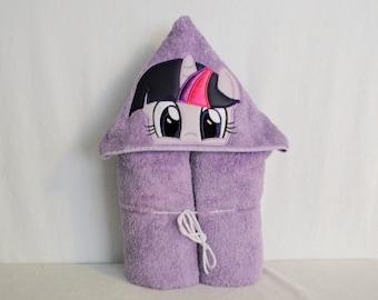 Purple pony hooded towel - mlp