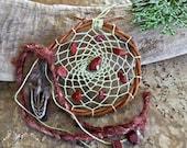 Warrior Stone Dream catcher , red jasper , talisman