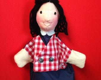 Hand Puppet for Children -- Teacher Puppet -- School Puppet