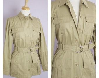 Vintage 1970's Saint Laurent Rive Gauche Saharienne Safari Jacket