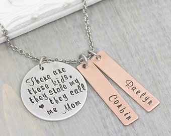 Hand Stamped Jewelry - Personalized Necklace - Mom Necklace - Personalized Jewelry - Family Necklace - Mothers Day Gift - Gift for Mom