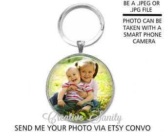 Custom Photo Keychain, Your Photo Key Chain, Send me your photo, Custom Photo Key Chain, READ ITEM DETAILS Before Ordering