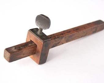 Vintage wooden scribe, vintage carpenter's tool, vintage wooden tool