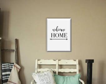 Farmhouse Welcome Home Printable Wall Art