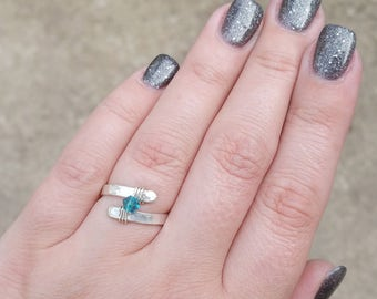 Birthstone Ring, Swarovski Crystal, Gift for Her, Girlfriend Gift, Birthstone Jewelry, Sterling Silver Birthstone Ring, Personalized Ring