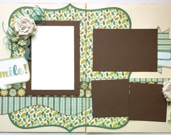 Smile Premade 2 Page 12x12 Scrapbook Layout