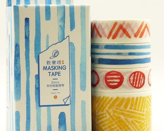 Miro - Japanese Washi Masking Tape Box Set - 4 rolls - 3.3 Yard(each roll)