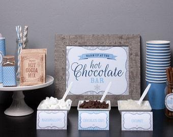 Hot Chocolate Bar Printable Kit - DIY Editable Printable Files - INSTANT DOWNLOAD