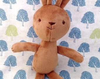 little brown bunny rabbit rag doll stuffed animal