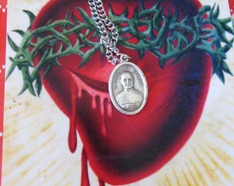 St Josemaria Escriva Italian Pendant and Necklace- Protection that we all need daily