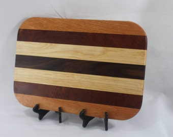 Cherry, Walnut, Ash and Mahogany Hardwood Cutting Board or Carving Board