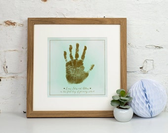Personalised Child's Gold Metallic Handprint Art Print