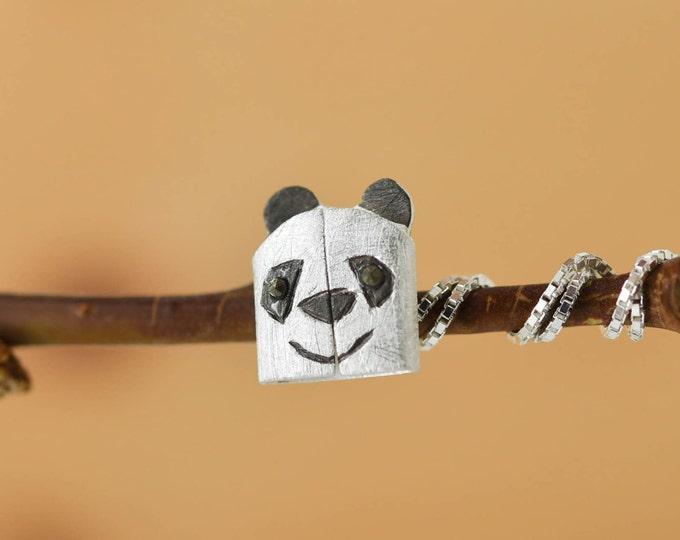 Panda Pendant, Panda Necklace, Panda Jewelry, Panda Charm, 925 Sterling Silver, Bridesmaid Gift, Best Friend Gift, Gift for her
