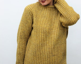 Mustard Yellow Chunky Knit Jumper Size UK 12, US 8, EU 40