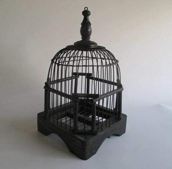 Cage à oiseaux Vintage en bois petit marché par HobbitHouse sur Etsy