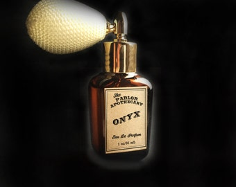 Onyx Perfume Spray - Eau De Parfum  - Atomizer Amber Glass Bottle -1 oz