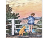 Winnie the Pooh Sticks Game (Childrens Book Lover Gift, Baby Girl Nursery Art Print, Boys Room Decor)