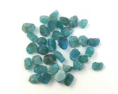Blue Apatite Rough | Lot of 36 | Loose Natural Raw Crystals |