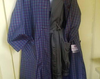 Vtg Lawrence of London Plaid Rain Coat XL